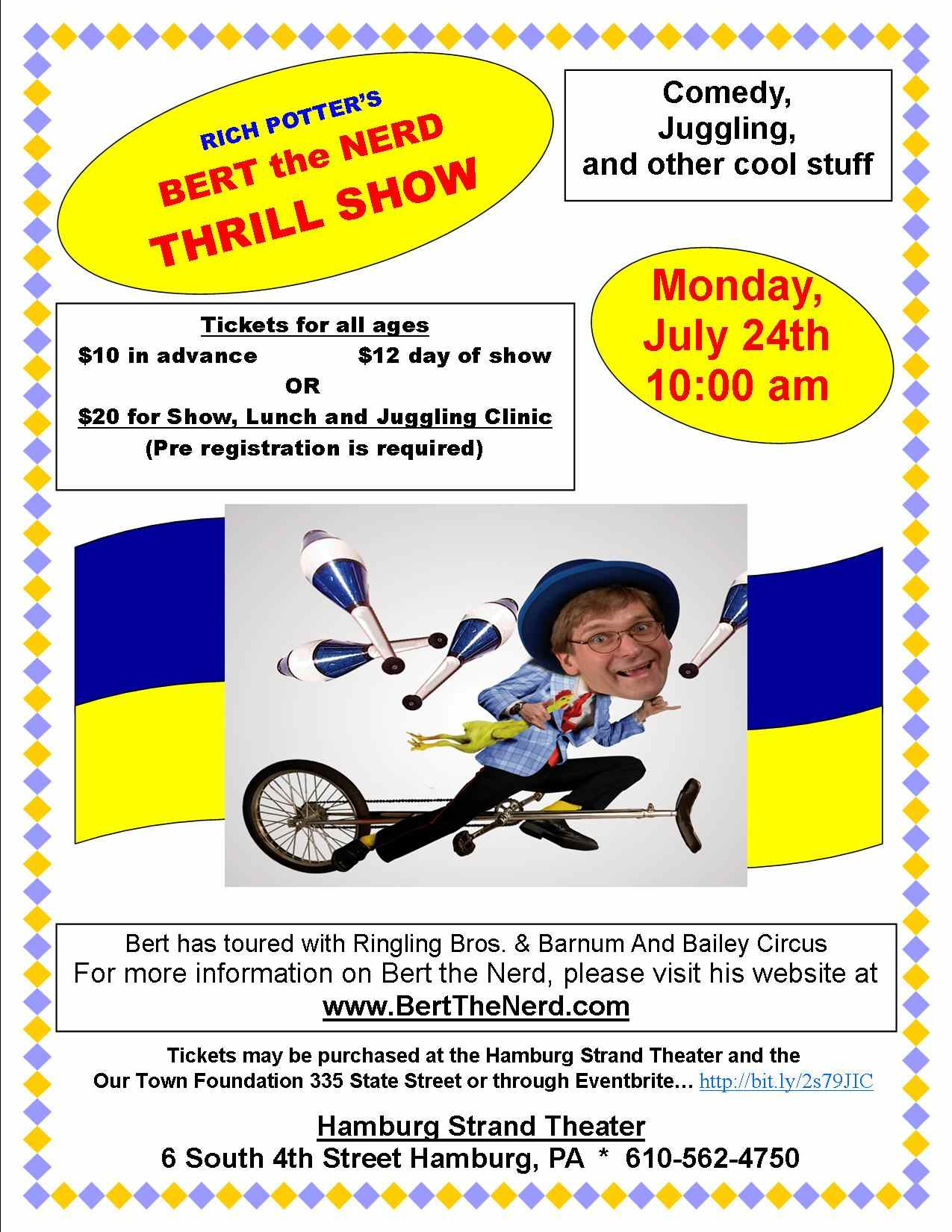 BERT THE NERD THRILL SHOW